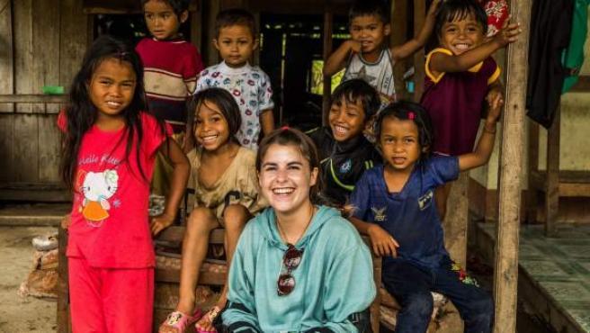 Andrea Bergareche, en Khe Sanh (Vietnam)