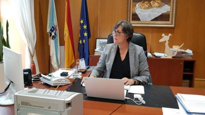 La alcaldesa de O Porriño, Eva García de la Torre (PSOE)