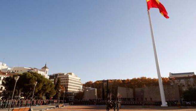 Vista de la plaza de Colón, en Madrid.