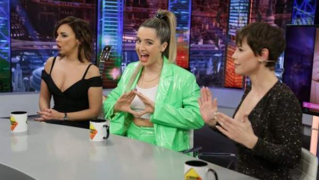 Chenoa, Mimi y Soraya, en 'El hormiguero'.