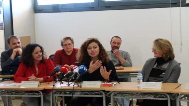 La consellera de Presidencia, Pilar Costa, en la presentación de un documental t
