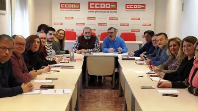 Reunión de las ejecutivas de CCOO y UGT Sevilla