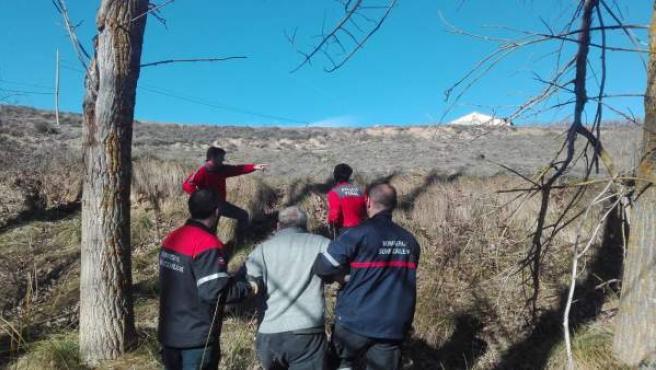 Rescate de un hombre mayor que se había caído en la zona del río Onsella