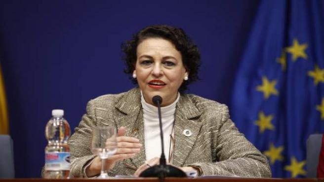 La ministra de Trabajo, Magdalena Valerio, en una foto de archivo