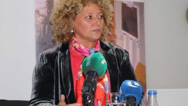 Pilar Marín durante la conferencia.