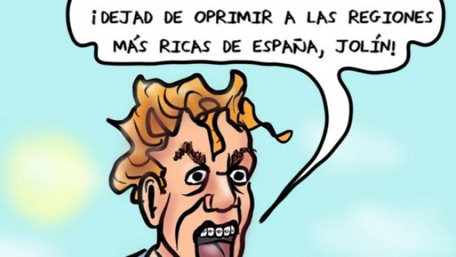 Los oprimidos de España, viñeta de Superantipático.