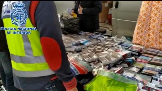 Macro operación contra la falsificación de productos en Alicante