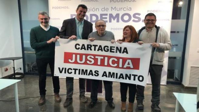 Rueda de prensa de Urralburu, Ruiz, Torregrosa, Marcos y Pedreño para denunciar