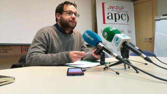El coordinador de Podemos Cádiz, José Ignacio García