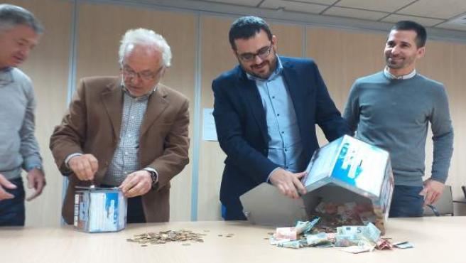 Apertura de las huchas del hotel Club Pollentia para conservación de S'Albuferet