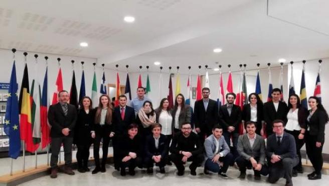 La delegación de la UBU en el Parlamento Europeo