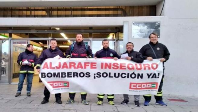 Protesta de los bomberos
