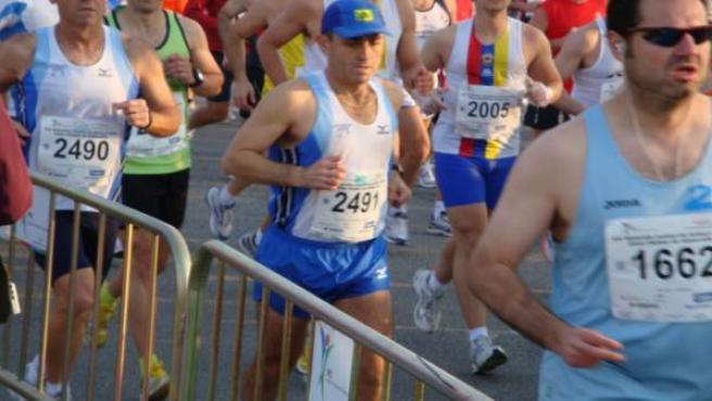 Corredores de la maratón de Sevilla