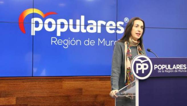 La portavoz regional del PP, Nuria Fuentes