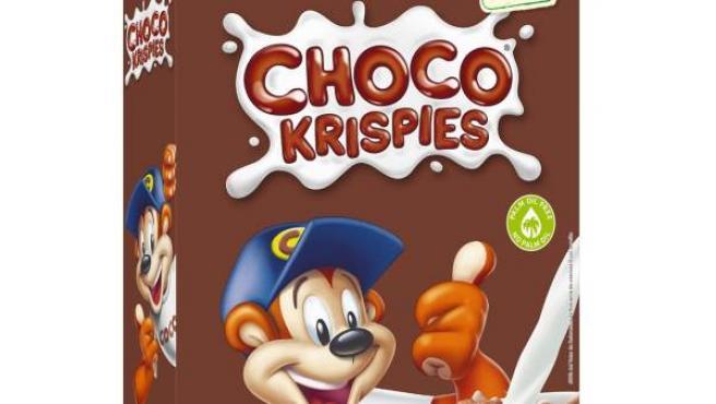 Cereales de arroz con chocolate Choco Krispies.