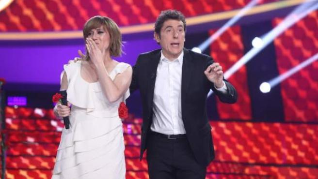 María Villalón en la gala final de 'Tu cara me suena', donde se ha coronado como la campeona.