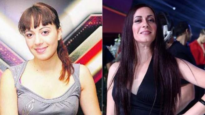 María Villalón, tras ganar Factor X y durante su paso por el programa 'Tu cara me suena'.