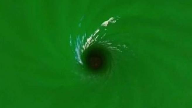 Imagen del agujero negro simulado.