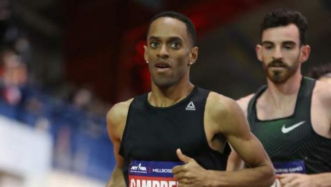 El atleta jamaicano Kemoy Campbell, durante los Millrose Games de Nueva York.