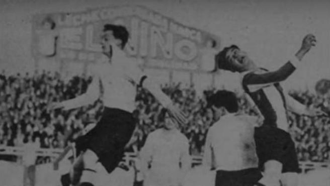 Josep Prats 'Pitus' marcó el primer gol de la historia de Primera División, en un Espanyol-Real Irún.