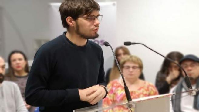 Lander Mártinez, este domingo en rueda de prensa en Vitoria