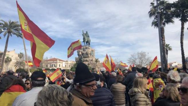 Concentración para defender la unidad de España en Palma de Mallorca