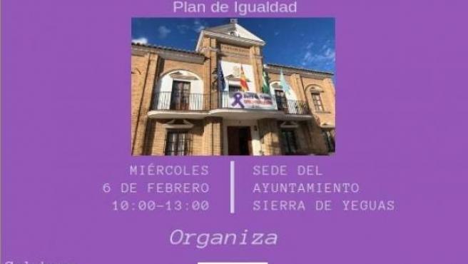 Cartel taller informativo sobre planes de igualdad