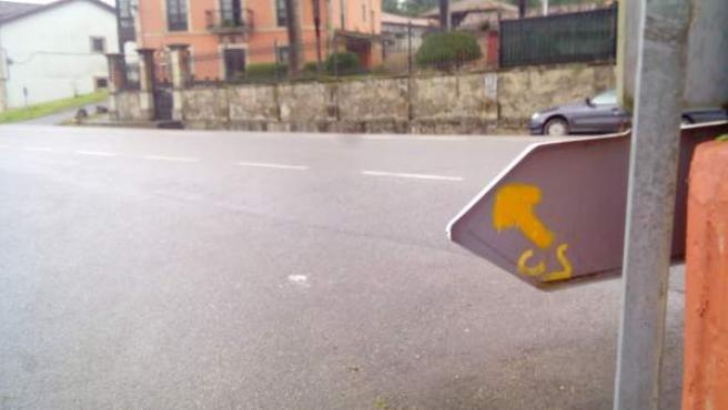 Tramo del Camino de Santiago en Asturias