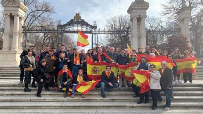 Representantes del PP Aragón este domingo en Madrid