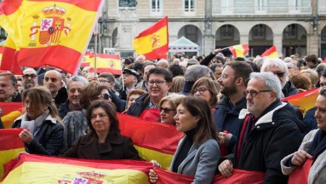 Manifestación de A Coruña 'por la unidad de España' para secundar la llevada a c