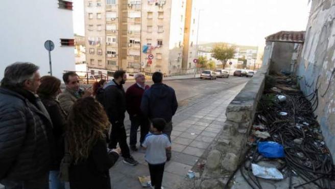 Antonio Saldaña en la barriada de Vistalegre