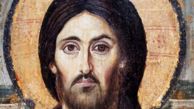Imagen de Jesucristo en una iglesia cristiana de Egipto.