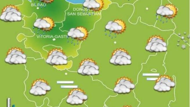 Lluvias intermitentes por la mañana, que remitirán por la noche, y temperaturas