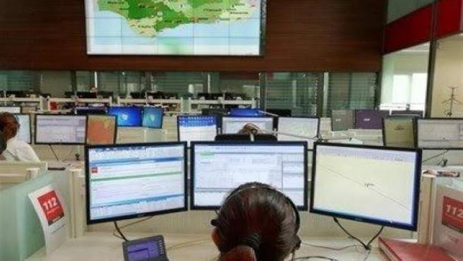 Trabajadora de Emergencias 112 Andalucía