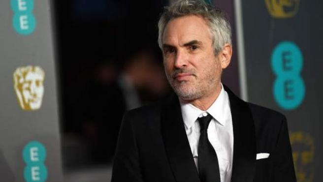 Alfonso Cuarón, a su llegada a los Bafta.