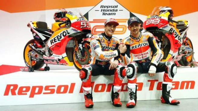 Marc Márquez y Jorge Lorenzo, pilotos del Honda Racing Team.