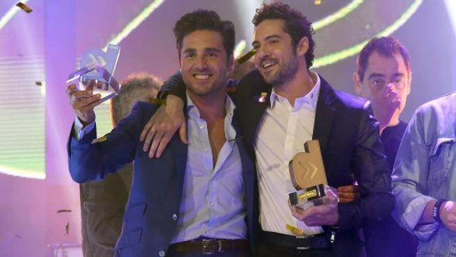 Bustamante y Bisbal, en una entrega de premios.