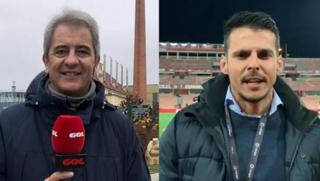 Los periodistas Manolo Lama e Isaac Fouto.