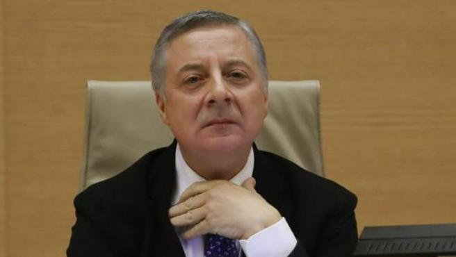 El exministro de Fomento José Blanco comparece en la comisión de investigación del accidente ferroviario del Alvia.