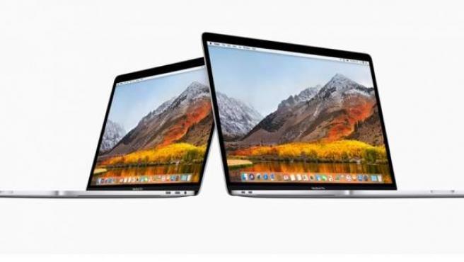 Ordenadores MacBook Pro de la compañía Apple.