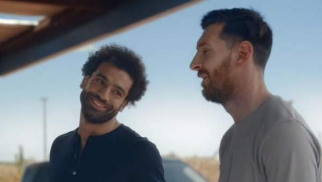 Messi y Salah , en el anuncio que protagonizan.