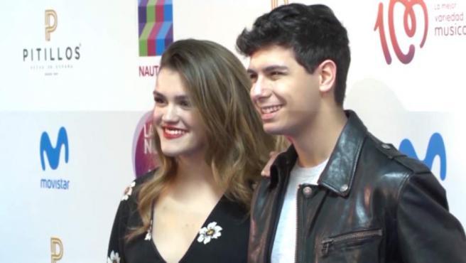 Amaia y Alfred, en el photocall de un acto publicitario.