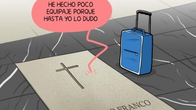 'Exhumación de Franco, el viernes', viñeta de Álvaro Terán