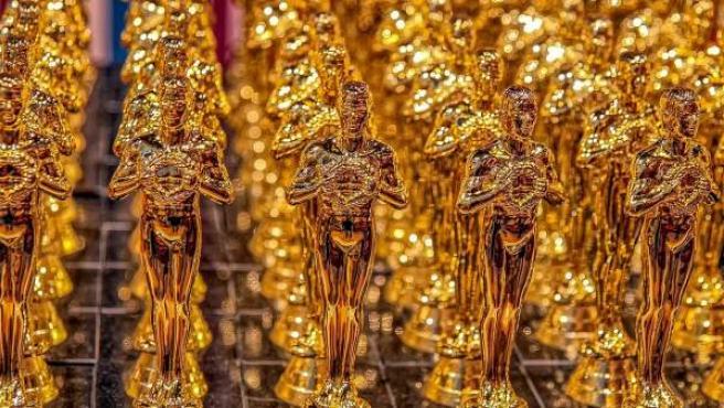 Imagen de algunas estatuillas de los Premios Oscar.