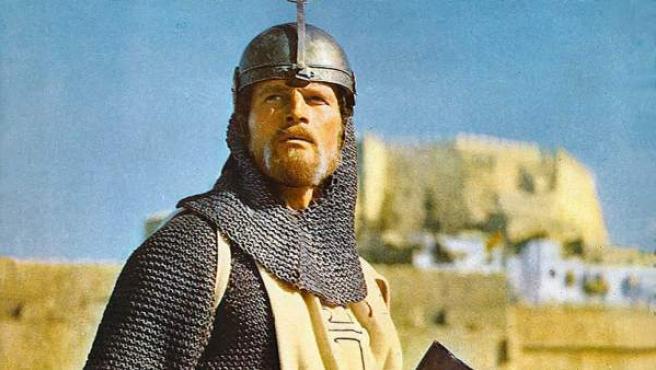 Charlton Heston como El Cid en la película homónima.