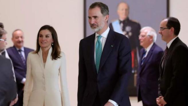 El rey Felipe VI y la reina Letizia, en Rabat.