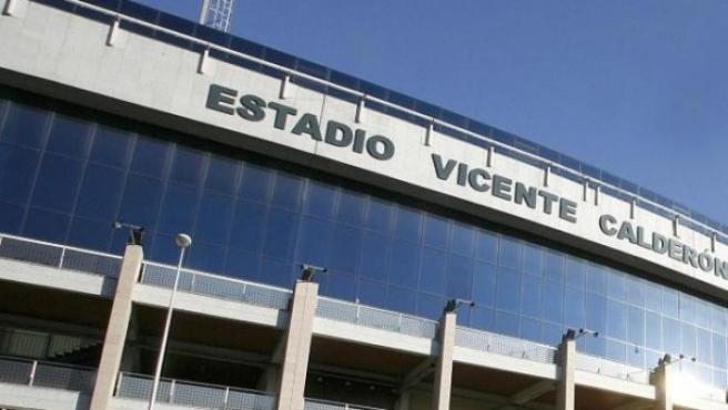 Vista exterior del Estadio Vicente Calderón.