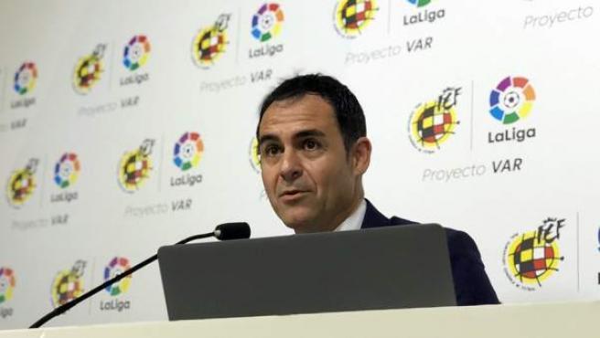 Carlos Velasco Carballo, presidente del Comité Técnico de Árbitros (CTA) de la RFEF.