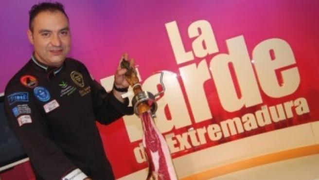 El cortador de jamón Nico Jiménez en una imagen de archivo.