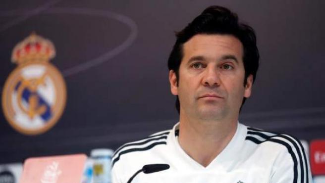 Santiago Solari, en rueda de prensa.